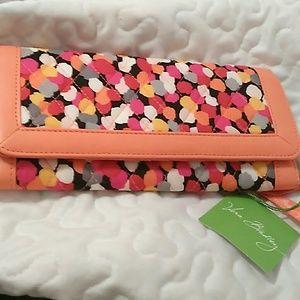 Vera Bradley clutch.  Pixie Confetti design. New